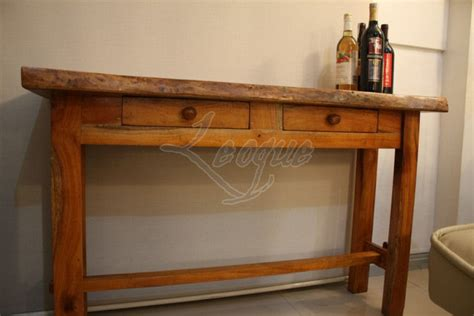 langka wood console table  drawers leoque collection