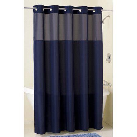 navy blue curtains walmart mainstays hookless fabric shower curtain navy walmart