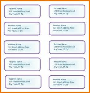 Address for Mailing Labels Template Word