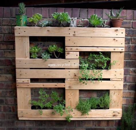 pallet garden ideas wooden pallet vertical garden ideas recycled things