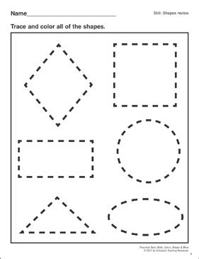 Shapes Review: Preschool Basic Skills (Shapes) | Printable