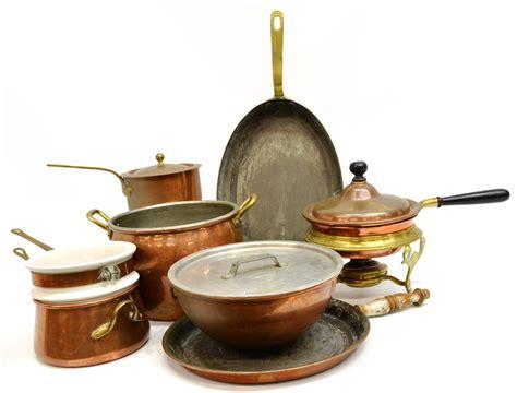 collection  american italian copper pots pans june