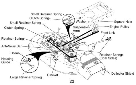 craftsman mower deck belt diagram images