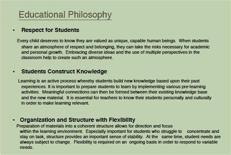 teaching philosophy template philosophy of education sles www imgkid the image kid has it