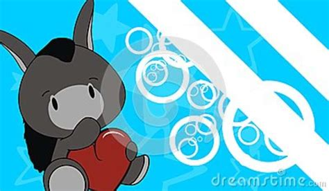 donkey baby love cartoon background stock vector image