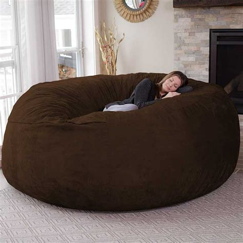 chill bag 8 foot bean bag chair gadgetry