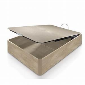 Coffre Lit 160x200 : lit coffre en ch ne massif 160x200 cm ~ Teatrodelosmanantiales.com Idées de Décoration