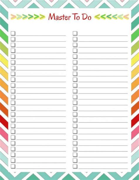 monthly bill organizer notebook 15 perfect paper to do lists for busy momof6