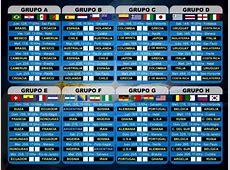 Copa del Mundo 2014 Grupos F y G Calendario lunes 16 de