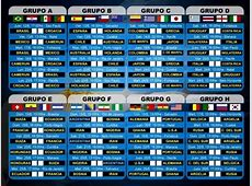 Fixture Partidos del Mundial 2014 Mañana Jueves 26 de