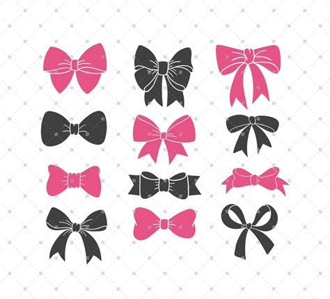 cricut bow bow svg cut files for cricut silhouette and other vinyl