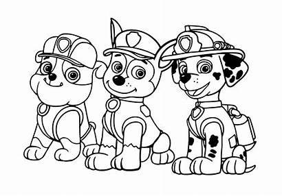 Paw Patrol Chase Marshall Rubble Coloring Three