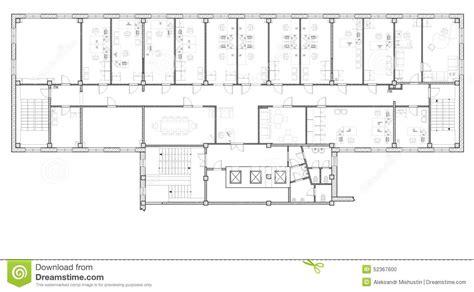 plan des bureaux immeuble de bureaux de plan illustration stock image