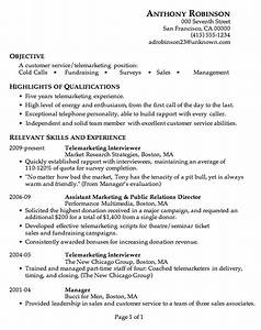 resume sample customer service telemarketing With how to write a customer service resume