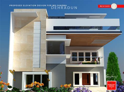 Dehradun Villa Elevation Design In Contemporary Theme