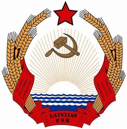 Latvia Ssr Arms Coat Soviet Emblem Svg