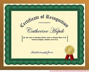 You Can Create a Certificate of Recognition in Word for ...