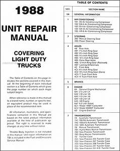 1988 Gmc Truck Overhaul Manual Gas Diesel Engine Sierra