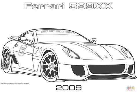 ferrari xx coloring page  printable coloring pages