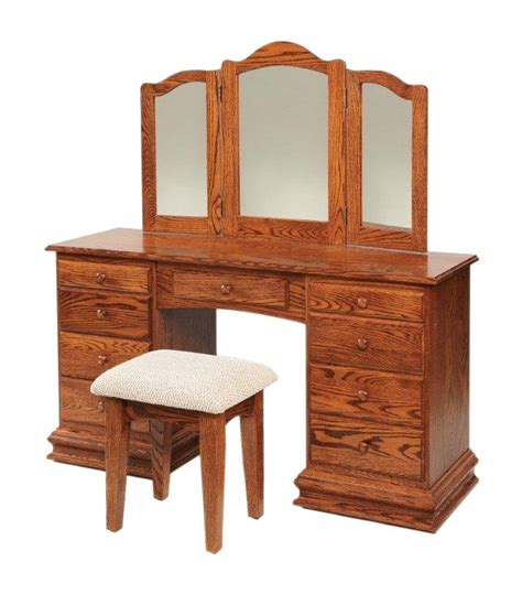 classic clockbase dressing vanity table  dutchcrafters