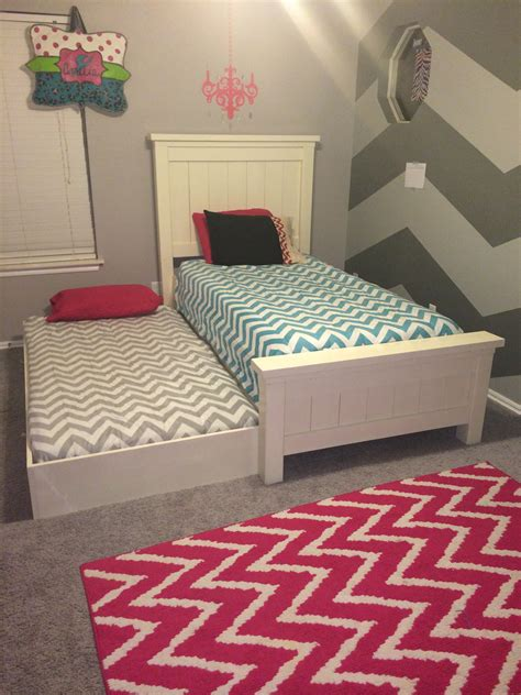 beds with trundle white farmhouse bed with trundle diy projects 10809