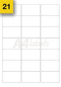 Label Printing Template 21 Per Sheet 100 Sheets A4 Printer Sticky Labels 18 Per Sheet L7161 Self Adhesive Stickers Ebay