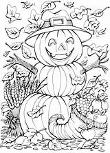 Coloring Fall Pages Stamping sketch template