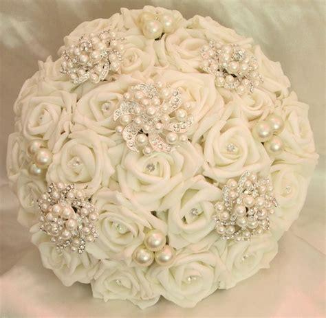 Wedding Flowers Wedding Bouquet Brides Vintage Posy Pearls