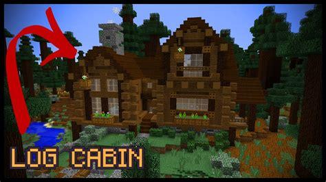 minecraft log cabin youtube