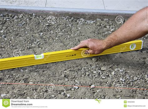 leveling ground for paving royalty free stock photo