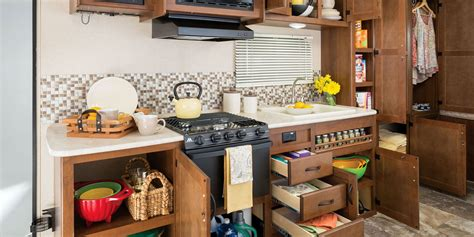 cer trailer kitchen ideas 2015 feather ultra lite travel trailers jayco inc