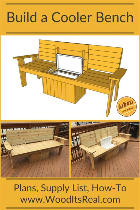 southern yellow pine cooler bench  wood  real