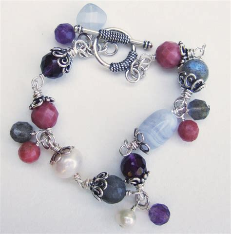 Handmade Amethyst and Labradorite Multigem Bracelet ...