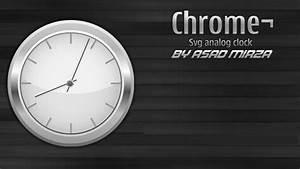 Vector Chrome Svg Analog Clock | Download Free Vector Art ...