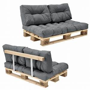 Paletten Sofa Schräge Rückenlehne : euro paletten sofa kissen grau 2 sitzer mit ~ Watch28wear.com Haus und Dekorationen