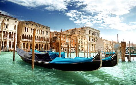Venice Canal Grande Venice Italy The Grand Canal Gondolas