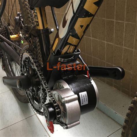 E Bike Electric Motor by 350w E Bike Mid Drive Motor Kit L Faster