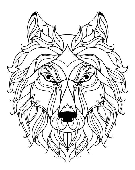 wolf   color  kids wolf kids coloring pages