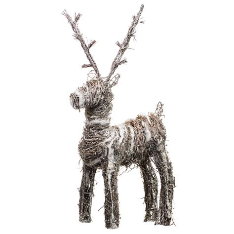 b m gt large woolly reindeer decoration 292694