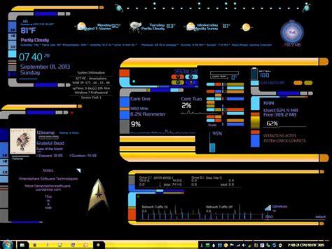 rainmeter skin star trek panel desktoppc amerisphere