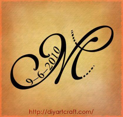Tatuaggi Lettere Particolari by Letter M Lettera Stilizzata Maiuscola M