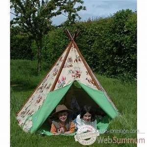 Tipi Pour Enfant : tente tipi d 39 indien pm dans tentes indiens de jouet plein air sur jouets prestige ~ Teatrodelosmanantiales.com Idées de Décoration