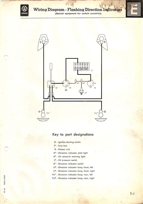 Diagram 10 Fuse Box Wiring For 1968 Vw by Indicator For A 1955 57 The Split Screen Club