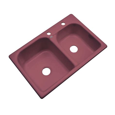 thermocast kitchen sink thermocast cambridge drop in acrylic 33 in 4 2726