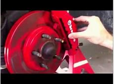 Installation enjoliveur etrier de frein Brembo YouTube