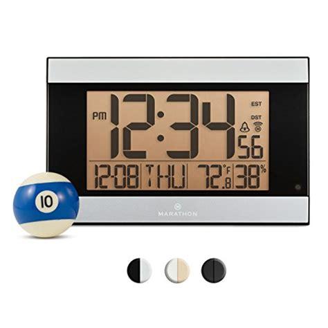 marathon cl030052gg atomic digital wall clock with auto