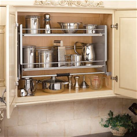 pulldown shelves offer     find order    cluttered  kitchens