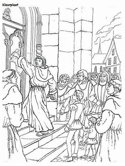 Reformation Luther Coloring Martin Lutheran Maarten Sunday