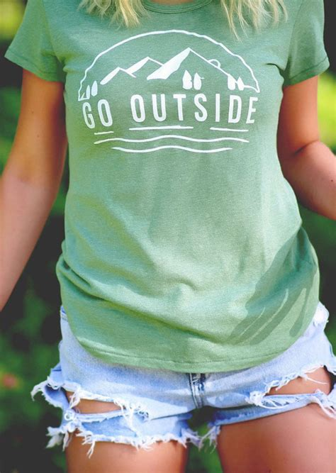 Go Outside Oneck Short Sleeve Tshirt Fairyseason