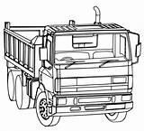 Truck Dump Coloring Pages Line Printable Construction Getcoloringpages Getdrawings Drawing sketch template